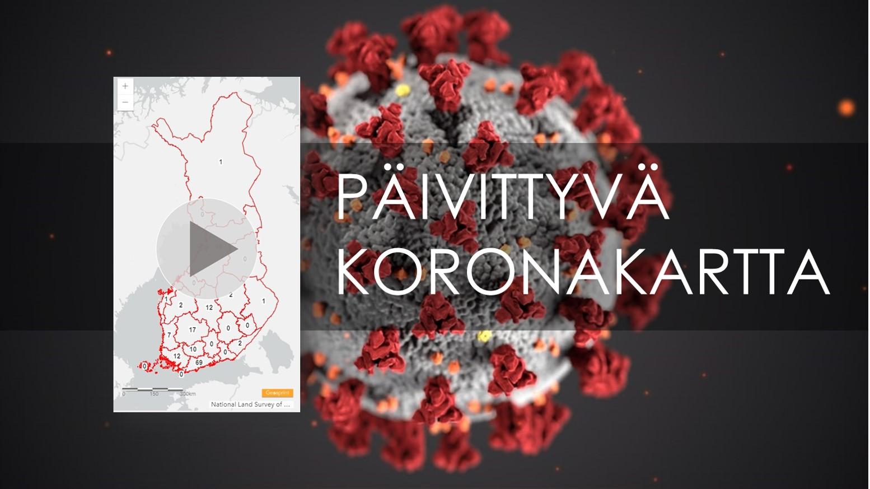 Kannykkakokoinen Paivittyva Koronaviruskartta Suomesta